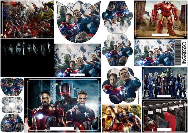 Vengadores: Invitaciones para Imprimir Gratis.