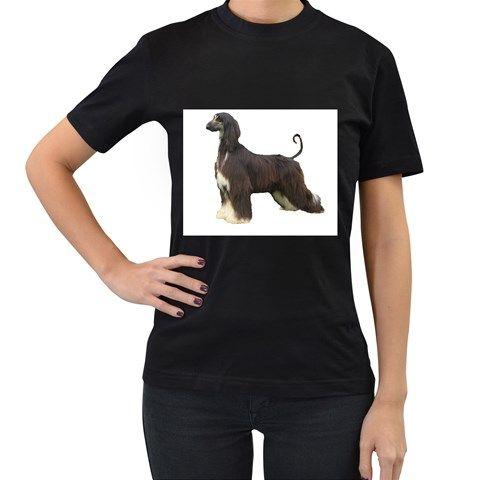 Afghan+Hound+Full+Women's+T-Shirt+(Black)