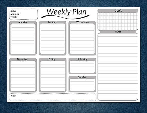 Еженедельный планировщик, ежедневное расписание, письменный стол планировщик, планировщик Преподаватель A4, чтобы сделать список