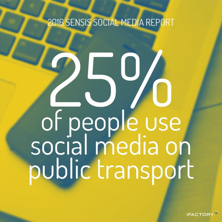 Where people check social media 25 percent on public transport. #SensisSocialMediaReport #SensisSocialSocialMediaAustralia #SensisSocial #ifactory #ifactorydigital