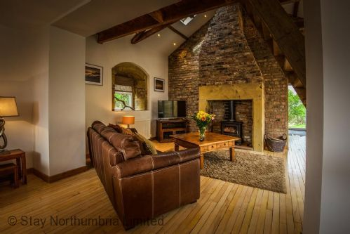 Lounge with woodburner