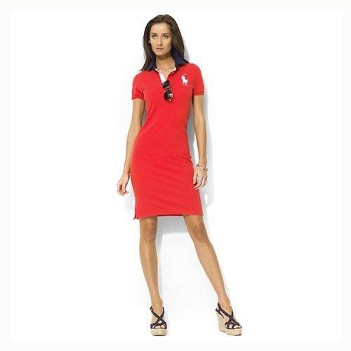 Ralph Lauren Womens Cotton Dress In Red