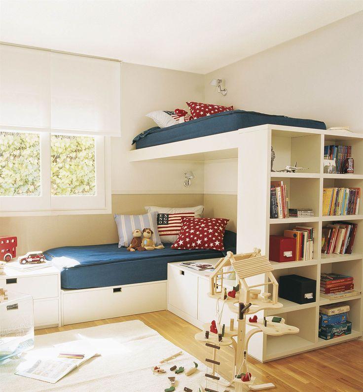 1000 ideas sobre habitaciones compartidas para ni os en - Habitaciones infantiles compartidas ...