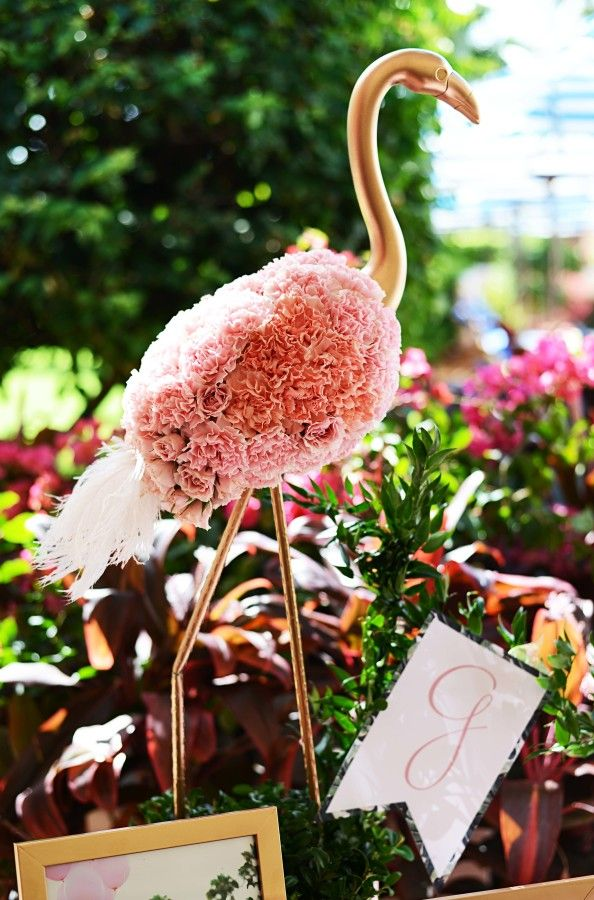 Tropical flamingo infused baby shower: http://www.stylemepretty.com/living/2016/01/09/tropical-flamingo-infused-baby-shower/ | Photography: South Moon - http://southmoonphotography.com/