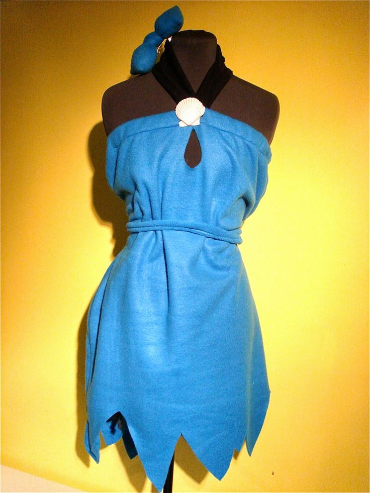 simple but effective Betty Rubble costume