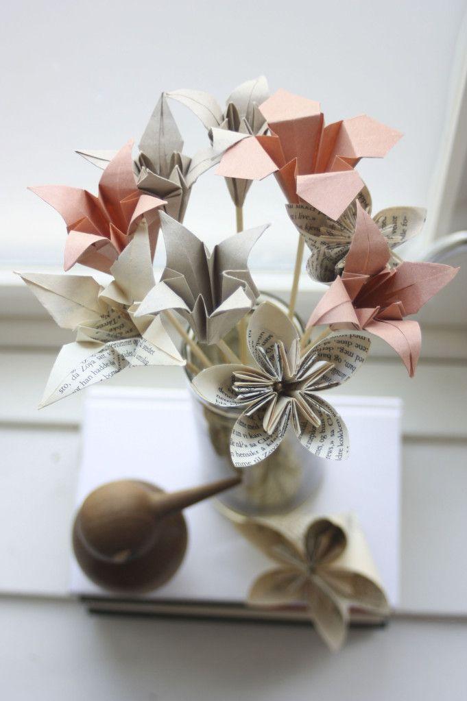 Origami flowers - foldyouso.com