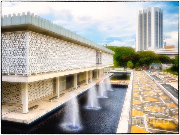 Title Masjid Negara - Malaysia's Modern National Mosque Artist David Hill Medium Photograph - Photograph