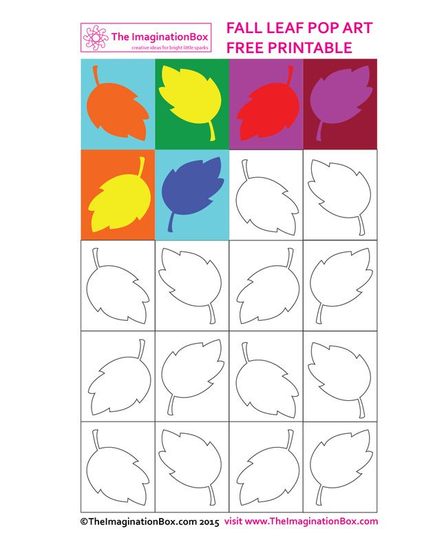 Fall leaf pop art free printable