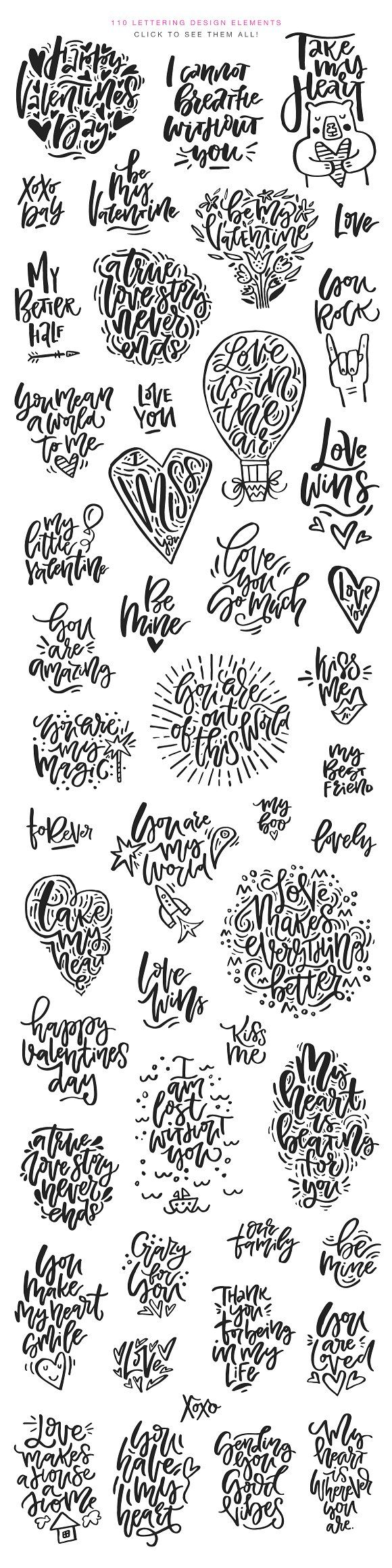 Valentine's Day Lettering