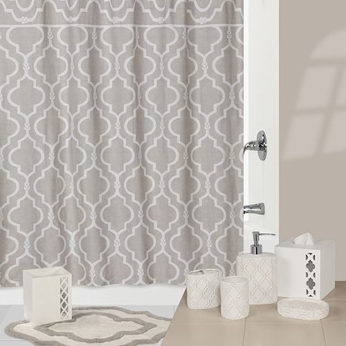 Jennifer Adams Chainlink Bathroom Accessories Collection Curtain