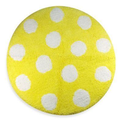 Polly Yellow 24 Inch Round Bath Rug Bedbathandbeyond Com