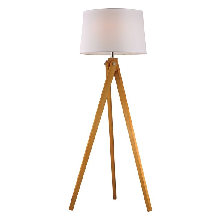 Wooden Tripod Floor Lamp in Natural Wood Tone #dynamichome #natural #lighting #tripod #floorlamp #homedecor #decor #modernstyle
