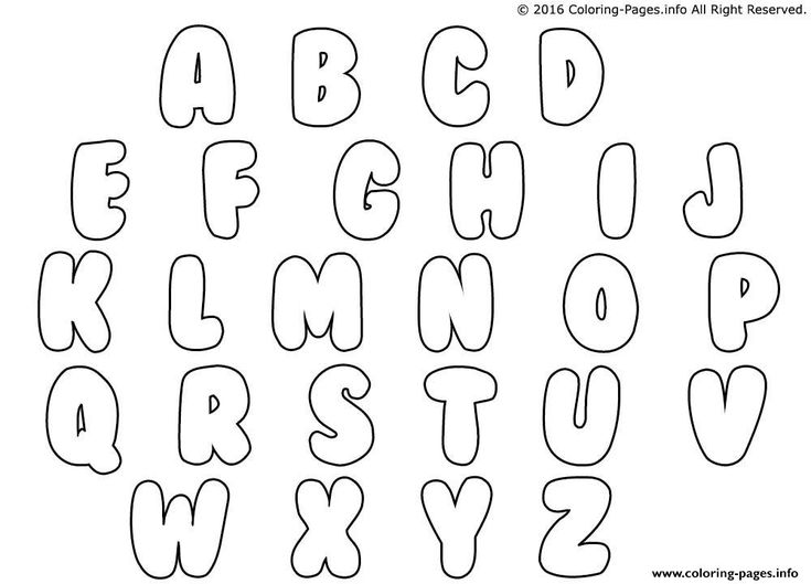 Bubble Letters Coloring Pages Printable within Free