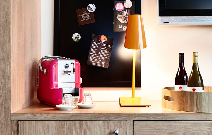 An in room coffee station at Rydges St. Kilda.