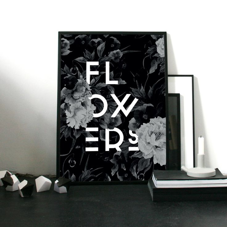 Flower poster / black & white