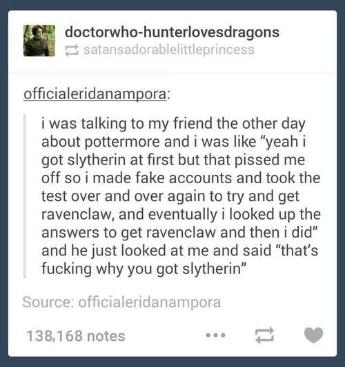 That's exactly what I want to do! I got sorted into Slytherin but I wanted to be a Ravenclaw. I think my sick is half and half.