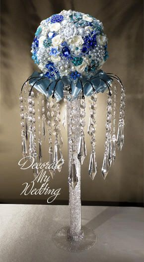 Cute crystal centerpieces ideas on pinterest
