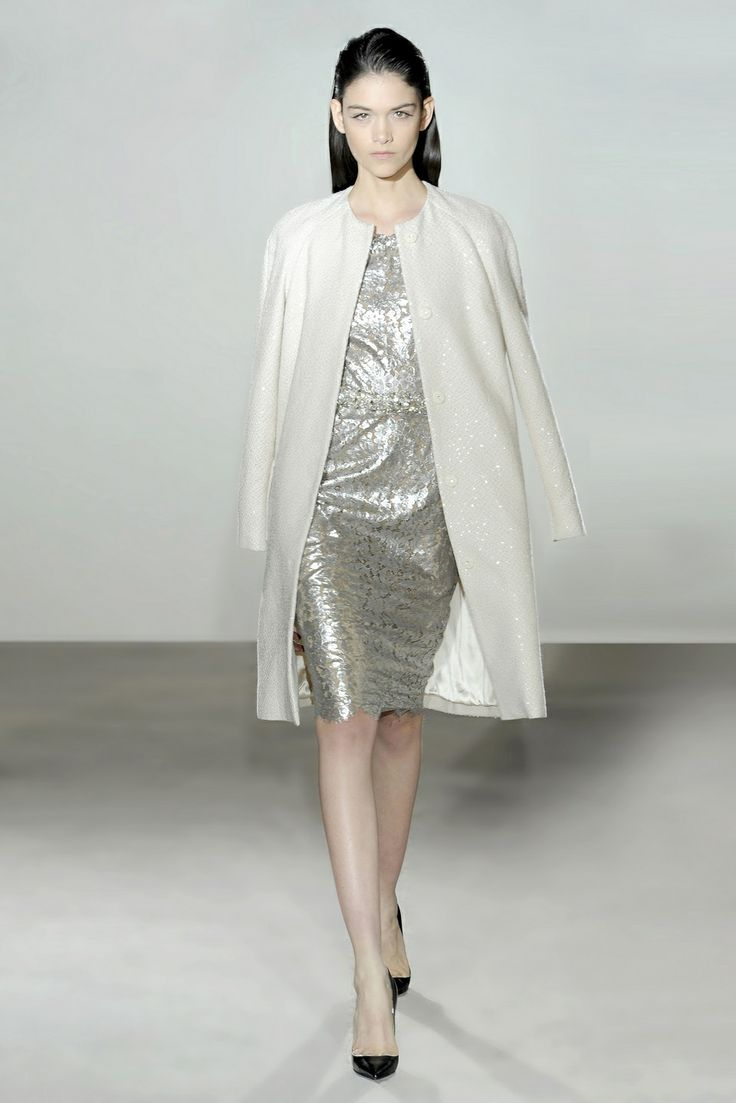 Collette Dinnigan French Silver Night Lace Off Shoulder Beaded Short Dress, Winter White Sequins Coat and Cluster Belt