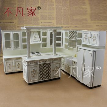 Dollhouse 1//12 Scale Fine Miniature furniture white Hand painted wall