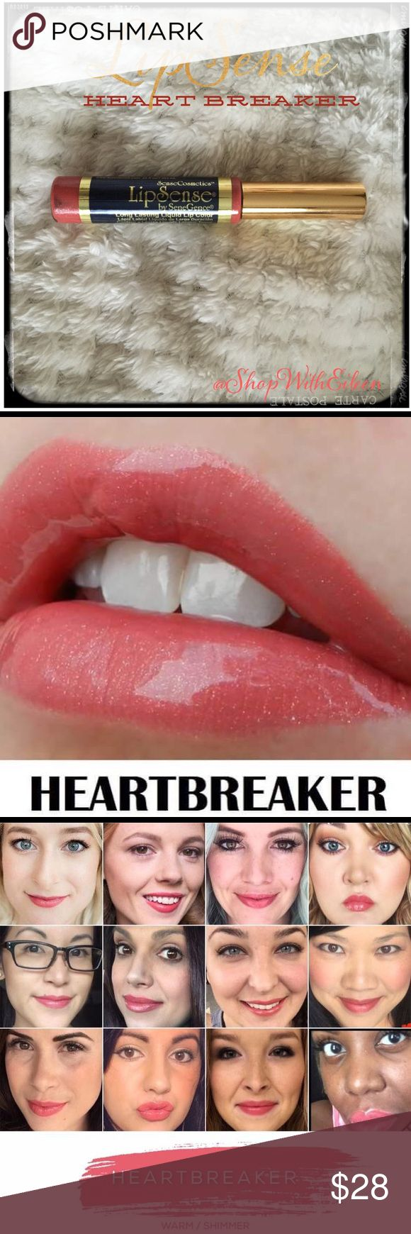 LipSense HEARTBREAKER Long Lasting Lip Color LipSense HEARTBREAKER Long Lasting Lip Color The premier product of Senegence, LipSense lasts all day – up to 18 hours. It is water-proof, kiss-proof, smudge-proof, and completely budge-proof. LipSense comes in a variety of captivating colors and can be layered to produce your own custom look. I am not a consultant… But I have used LIPSENSE for 15 years and do not go a day without it! ❤️Custom Bundle & Save! Lip Sense Makeup ...