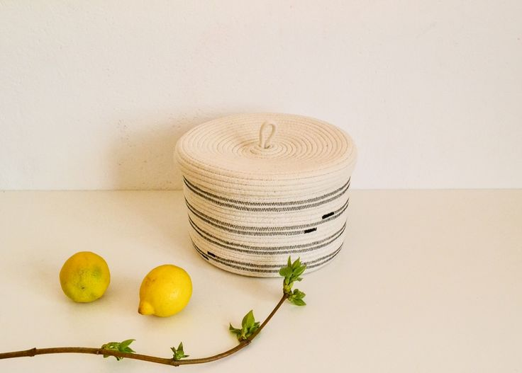Small Cotton rope storage basket via Nuagehome. Click on the image to see more!
