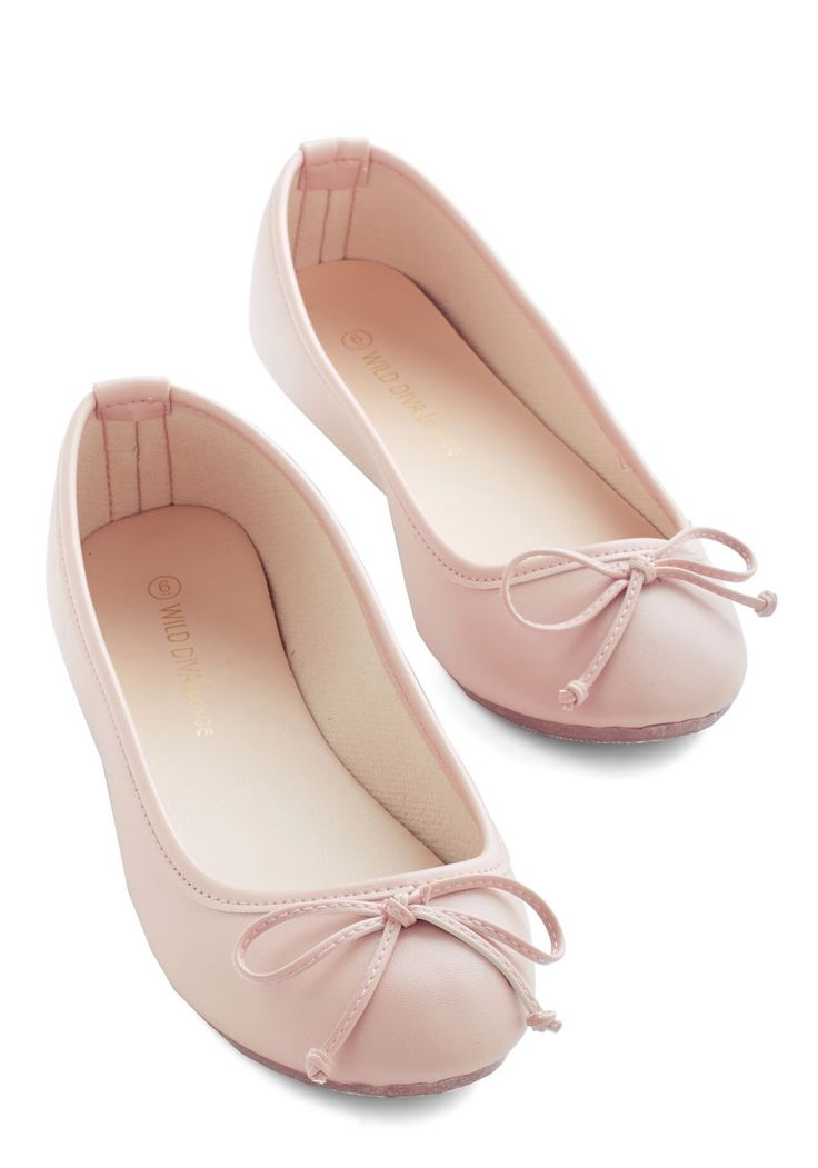 Jaunty Saunter Flat in Blush - Flat, Faux Leather, Solid, Bows, Casual, Minimal, Good, Variation, Pink, Fairytale, Pastel, Darling