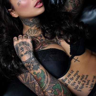Girl with awesome tattoos on herself. #tattoo #tattoos #ink #inked