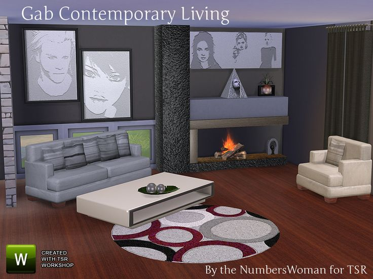17 best images about sims 4 living room sets on pinterest for Modern living room sims 4