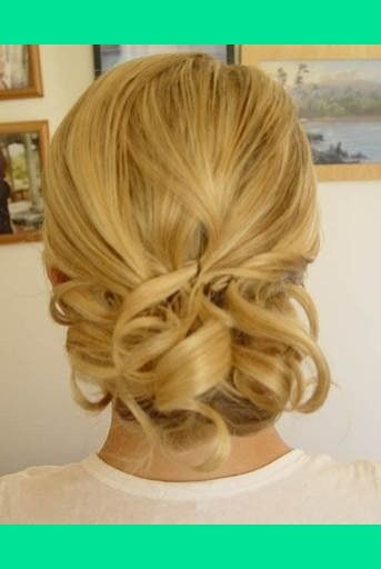 medium length prom updo