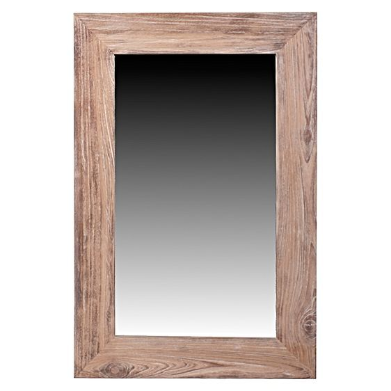 Echo a rich and rustic feel in your space with the handsome timber of the Rectangular Wooden Mirror from LS Collections.