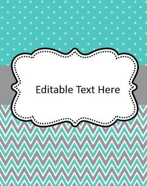 Editable Binder Cover Freebies | Print Perfect | Pinterest