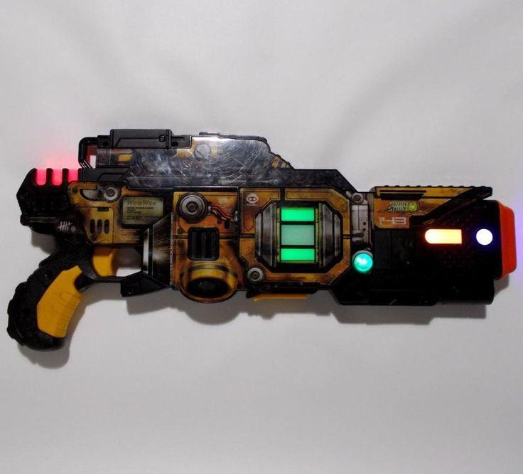 WowWee Light Strike Gun Lazer Assault SR 143 Laser Tag Blaster Talks Lights Up #WowWee