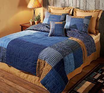 denim bedding | quilted-denim-bedding  http://www.wildwings.com/DirectionsWEB/webcart_multiBuy.php?catid=DENIMBEDDN    $295