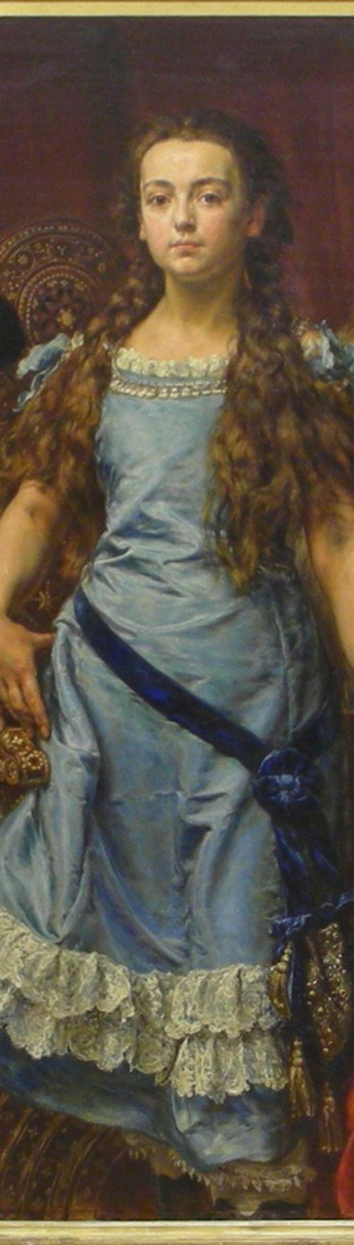 Polish painter's portrait of his children, detail (cropped) - Jan Matejko (1838 -1893)