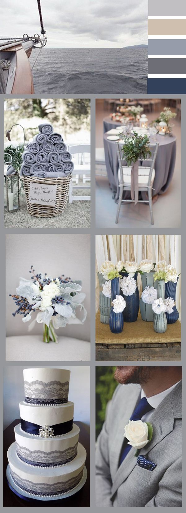 grey wedding color ideas for 2017 trends