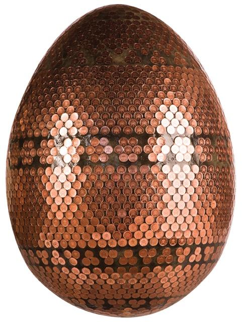 Faberge Penny egg: Jane Morgan, Big Eggs, Idea, Fabergé Eggs, Faberge Eggs, Eggs Hunt'S, Eggs Art, Copper Pennies, Fabergé Big