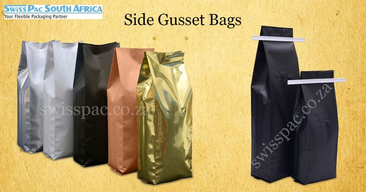 #Stock & #Customprinting on #sidegussetbags are possible as we make use of the rotogravure process,