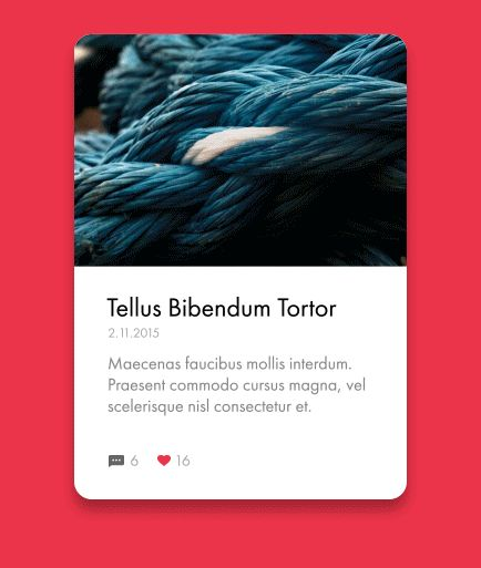 Blog UI Element on Behance