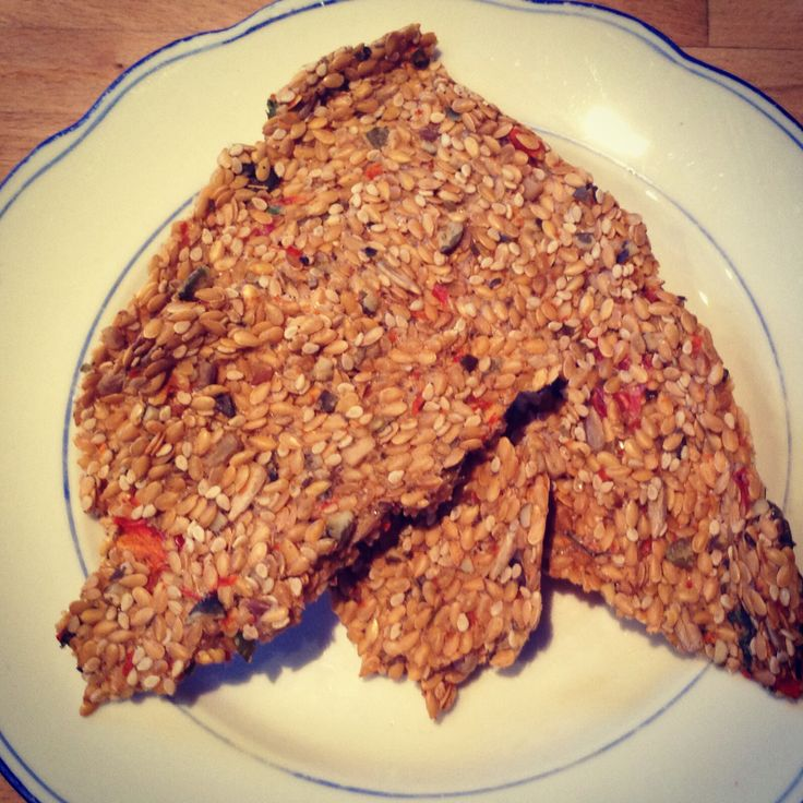 #Gluten #free #seed #crackers #essential #fatty #acid #delight mix #linseeds, #sunflower seeds, #sesame seeds #red pepper #oregano #cumin with a bit of water to form a paste! spread on baking paper and #dehydrate for 12 -14 hours at 45 degrees. Delicious with blueberry jam or as a savoury snack!