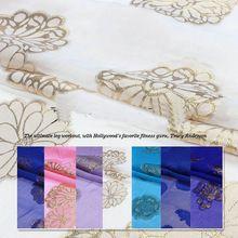 7 farbe dubai design luxus zwei clor gold silbrig blume burnout jacquard Seide chiffon stoffe(China (Mainland))