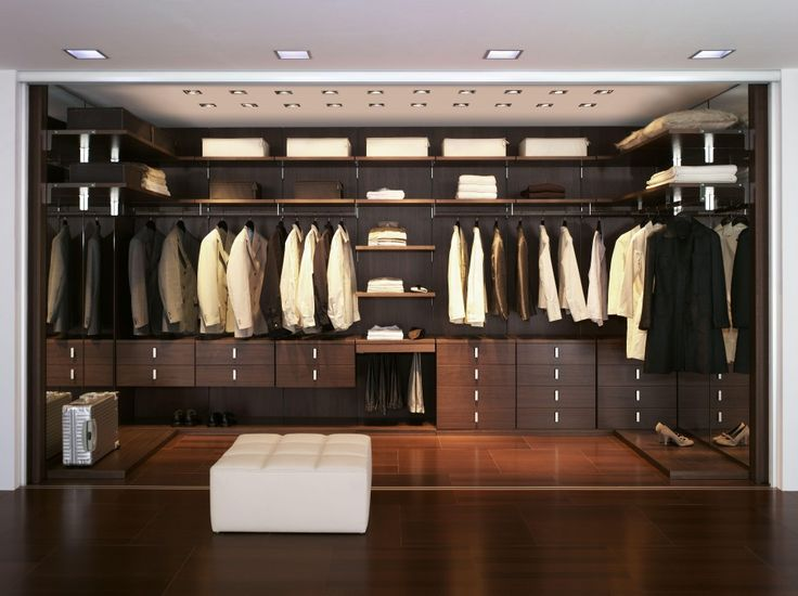 Best Walk In Closet Design Inspiration Luxury Ideas With Dark Brown Wooden Furniture