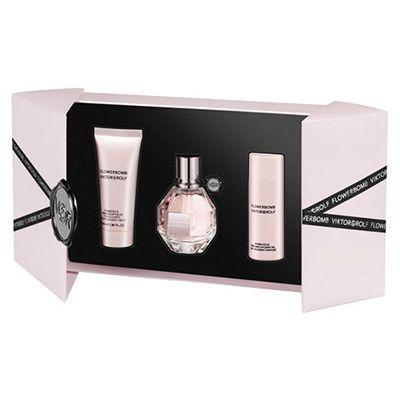 Coffret Flower Bomb Eau de parfum  #parfum  #viktor&rolf  Ce Coffret est composé de : vaporisateur 50ml + Lait corps 50ml + Gel douche 50ml