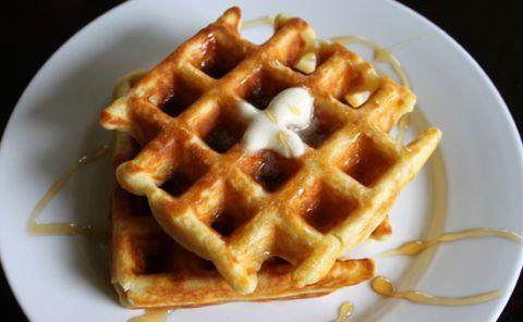 Basic-Homemade-Waffle-Recipe-Butter