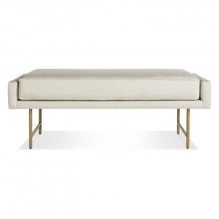 Bank bench linen brass bludot furnishings pinterest for Ottoman for foot of bed