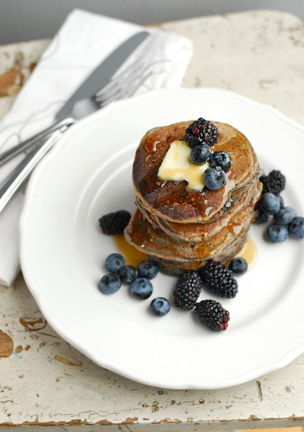 An Easy Black and Blueberry Pancake Recipe!