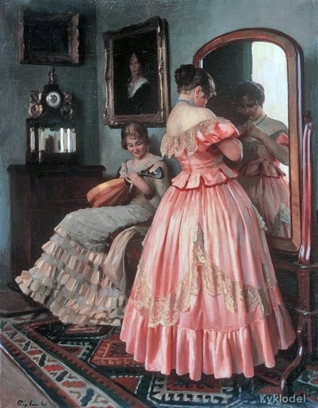 Image result for woman in mirror edwardian era painting