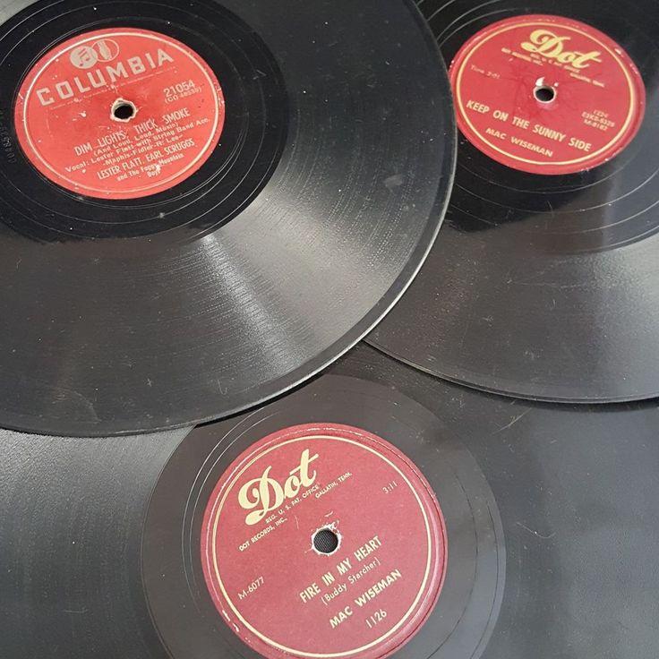 vintage Bluegrass record lot 3 Mac Wiseman Lester Flatt Earl Scruggs foggy boys #Bluegrass