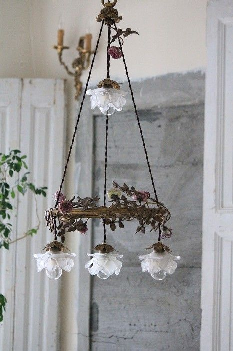 Shabby chic chandelier                                                                                                                                                      More