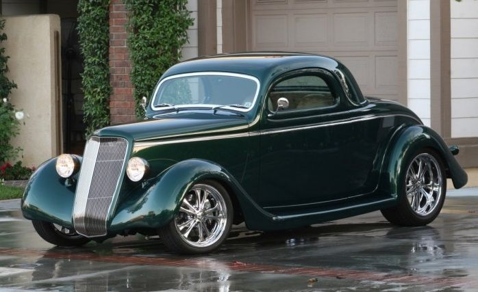 1935 Ford All Steel Three-Window Coupe designed by Chip Foose with most of the construction done by the Foose Design Shop. Painted by Charlie Hutton.