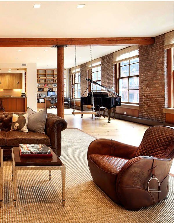 a loft with a swing, on the street i've always wanted to live on...sob // Sprawling rustic and chic pre-war loft in SoHo